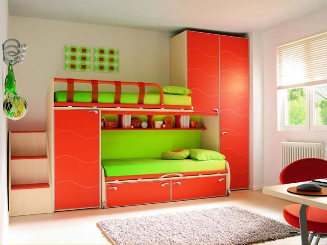 Дизайн детских кроватей комнат